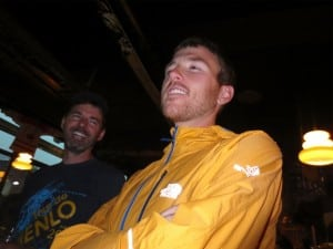 Foote relaxing in Chamonix before the 2012 TNF UTMB. Photo: Bryon Powell