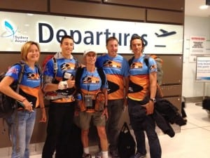 "Team Born to Run departs Australia for their final desert foray in the ""last desert,"" Antarctica. Photo courtesy of Team Born to Run."